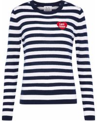 Zoe Karssen - Appliquéd Striped Cashmere Jumper - Lyst