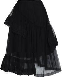 Simone Rocha - Asymmetric Lace-trimmed Tulle Midi Skirt - Lyst