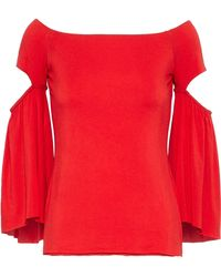 Bailey 44 - Off-the-shoulder Cutout Stretch-knit Top - Lyst