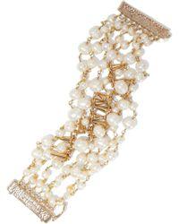 Rosantica - Gold-plated Freshwater Pearl Bracelet - Lyst