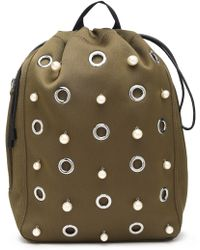 3.1 Phillip Lim - Go-go Embellished Shell Backpack Army Green - Lyst