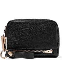 Alexander Wang - Woman Fumo Textured-leather Wallet Black - Lyst