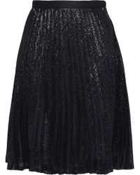 Joie - Jadian Sequined Pleated Chiffon Skirt - Lyst