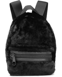 Alexander Wang - Leather-trimmed Shearling Backpack - Lyst