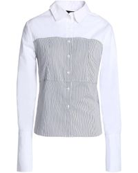 W118 By Walter Baker Woman Striped Paneled Cotton-poplin Shirt White Size S W118 by Walter Baker Discount Supply rnQGbF