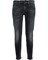 R13 - Faded Low-rise Slim-leg Jeans - Lyst