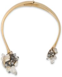 Lanvin - Gold-tone Crystal And Glass Necklace - Lyst