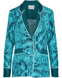 Mary Katrantzou - Tarot Printed Silk-twill Jacket - Lyst
