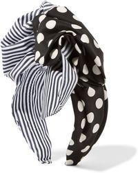 Dolce & Gabbana - Printed Cotton-twill Headband - Lyst
