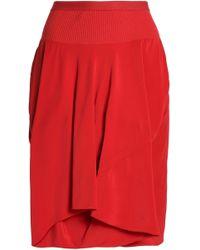Rick Owens - Layered Crepe Shorts - Lyst