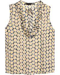 Huge Surprise Buy Cheap For Nice Love Moschino Woman Ruffled Floral-print Chiffon Blouse Marigold Size 40 Love Moschino Cheap Footlocker Discount Cheap Online b21Yk9P