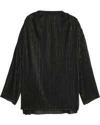 Rosetta Getty - Oversized Metallic Ribbed-knit Top - Lyst