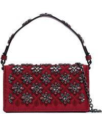 Tory Burch - Cleo Embellished Satin Shoulder Bag - Lyst
