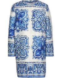 Dolce & Gabbana - Printed Cotton And Silk-blend Jacquard Coat - Lyst