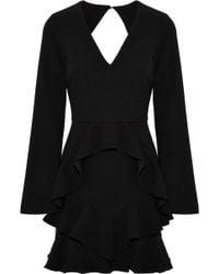 Rebecca Vallance - Havana Cutout Ruffled Crepe Mini Dress - Lyst