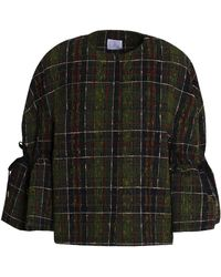 Stella Jean - Checked Tweed Jacket Army Green - Lyst