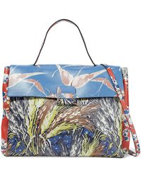 Valentino - Mime Printed Leather Tote - Lyst