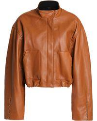 3.1 Phillip Lim - Barbell-embellished Leather Bomber Jacket - Lyst
