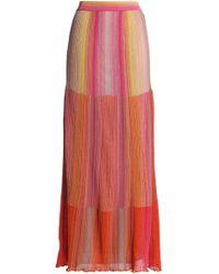 M Missoni - Metallic Knitted Maxi Dress - Lyst