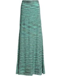 M Missoni - Metallic Crochet-knit Maxi Skirt - Lyst