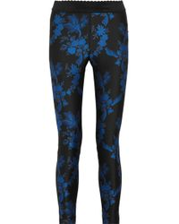 Stella McCartney - Eve Panelled Crepe And Cotton-blend Leggings - Lyst