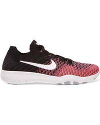 Nike - Free Tr Flyknit 2 Appliquéd Jacquard-knit Trainers - Lyst