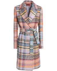 Missoni - Belted Wool-blend Bouclé-tweed Coat - Lyst
