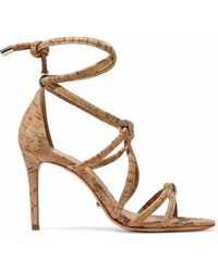 Schutz - Nadia Knotted Cork Sandals - Lyst