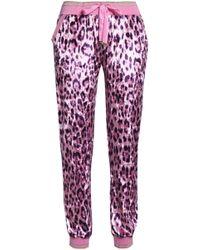 Roberto Cavalli - Leopard-print Chenille Track Trousers - Lyst
