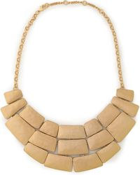 Kenneth Jay Lane - Hammered Gold-tone Necklace - Lyst