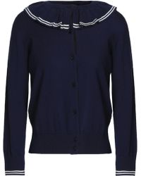 Marc Jacobs - Ruffle-trimmed Cotton Cardigan - Lyst