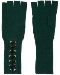 Autumn Cashmere - Lace-up Cashmere Fingerless Gloves - Lyst