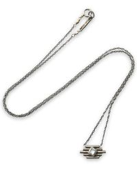 Chan Luu - Santa Fe Burnished Sterling Silver Stone Necklace - Lyst