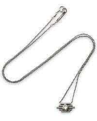 Chan Luu - Santa Fe Burnished Sterling Silver Stone Necklace - Lyst