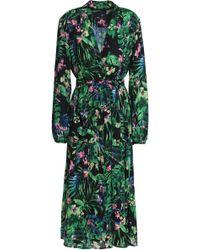 W118 by Walter Baker - Faith Floral-print Crepe De Chine Midi Wrap Dress - Lyst