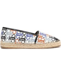 Emilio Pucci - Faux Leather-trimmed Printed Canvas Espadrilles - Lyst