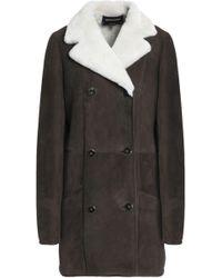 Vanessa Seward - Woman Earl Double-breasted Shearling Coat Dark Brown - Lyst