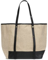 See By Chloé - Leather-trimmed Linen Tote - Lyst