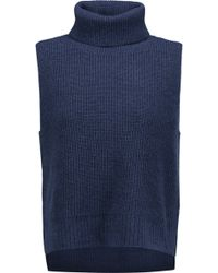 Magaschoni - Ribbed Wool And Cashmere-blend Turtleneck Sweater Midnight Blue Size Xl - Lyst