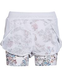 Lucas Hugh - Inca Mesh And Printed Stretch-jersey Shorts - Lyst