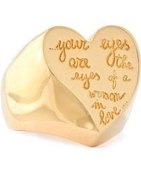 Valentino - Gold-tone Ring - Lyst