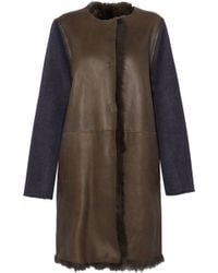 Yves Salomon - Wool And Cashmere-blend Paneled Shearling Coat - Lyst