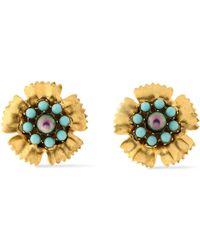 Elizabeth Cole - Gold-tone Stone Earrings - Lyst
