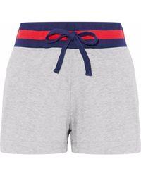 Sleepy Jones | Striped Cotton-blend Pajama Shorts | Lyst