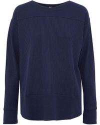 DKNY - Ribbed Cotton-blend Jersey Pajama Top - Lyst