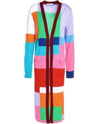 Mary Katrantzou - Woman Intarsia Wool Cardigan Multicolour - Lyst