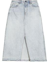 Alexander Wang - Denim Midi Skirt Light Denim - Lyst