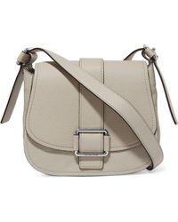 MICHAEL Michael Kors - Embellished Pebbled Leather Shoulder Bag Light Gray - Lyst