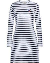 Être Cécile - Appliquéd Striped Cotton-jersey Mini Dress - Lyst