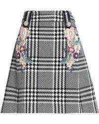 Zuhair Murad - Embellished Houndstooth Wool-blend Skirt - Lyst